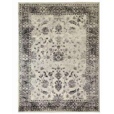 Old Treasures Gray 7 ft. 10 in. x 9 ft. 10 in. Area Rug