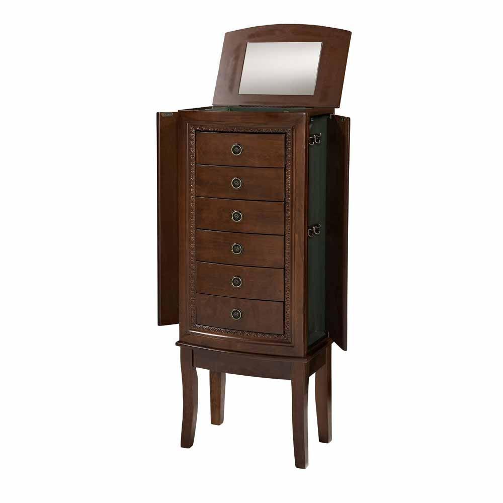 Home Decorators Collection Molly Cherry Jewelry Armoire