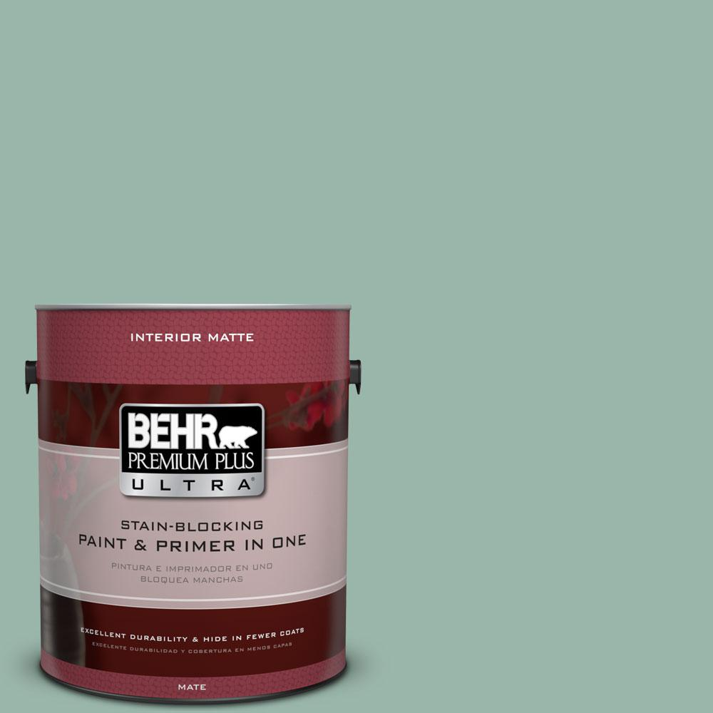 BEHR Premium Plus Ultra 1 gal. #S420-3 Nile River Matte Interior Paint