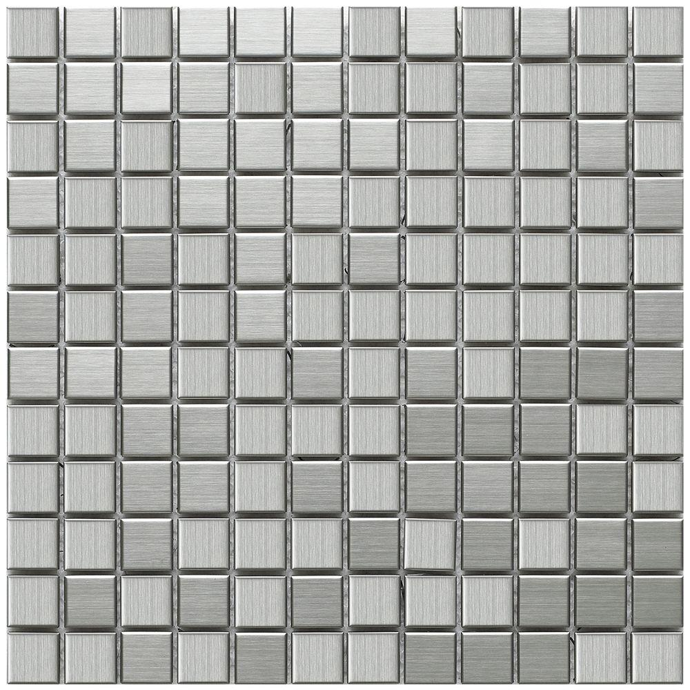 Merola Tile Alloy Square 11-7/8 in. x 11-7/8 in. x 8 mm Stainless ...