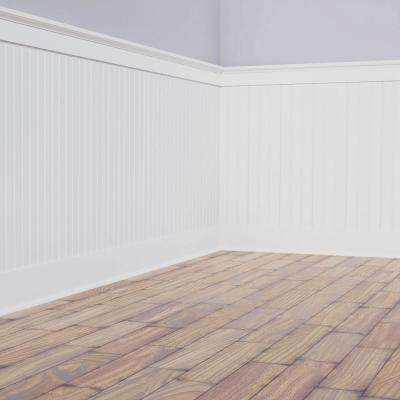 5/8 in. x 96 in. x 32 in. PVC Deluxe Beadboard Wainscoting Moulding Kit (for heights up to 33-5/8 in.)