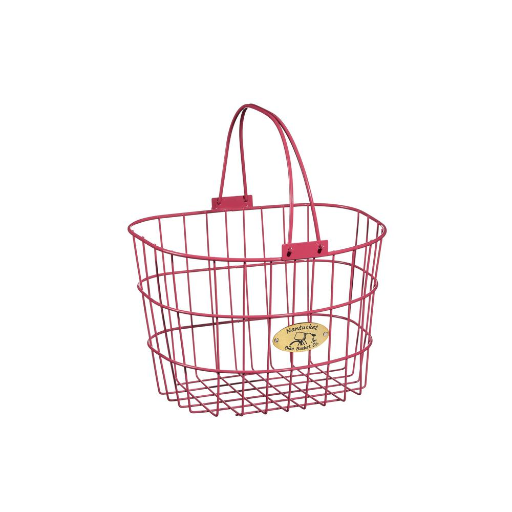 Surfside Adult Wire D-Shape Basket in Pink
