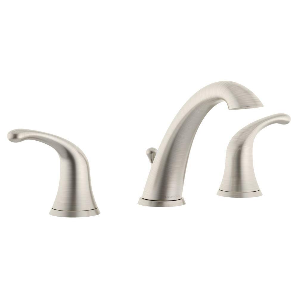 Unity 8 in. Widespread 2-Handle Mid-Arc Bathroom Faucet in Satin Nickel