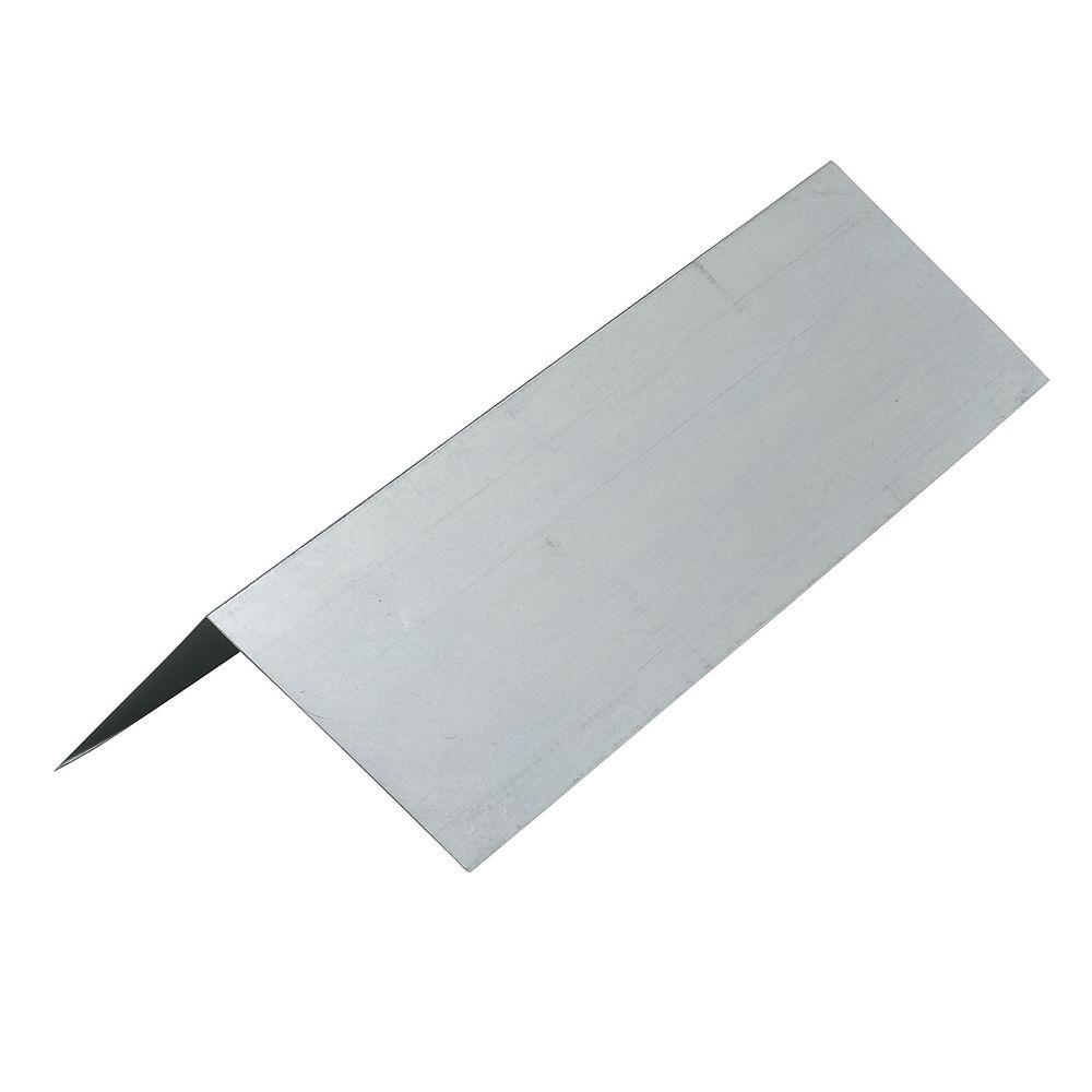 8 in. x 10 ft. Galvanized Angle Flashing Prebent 3 in.