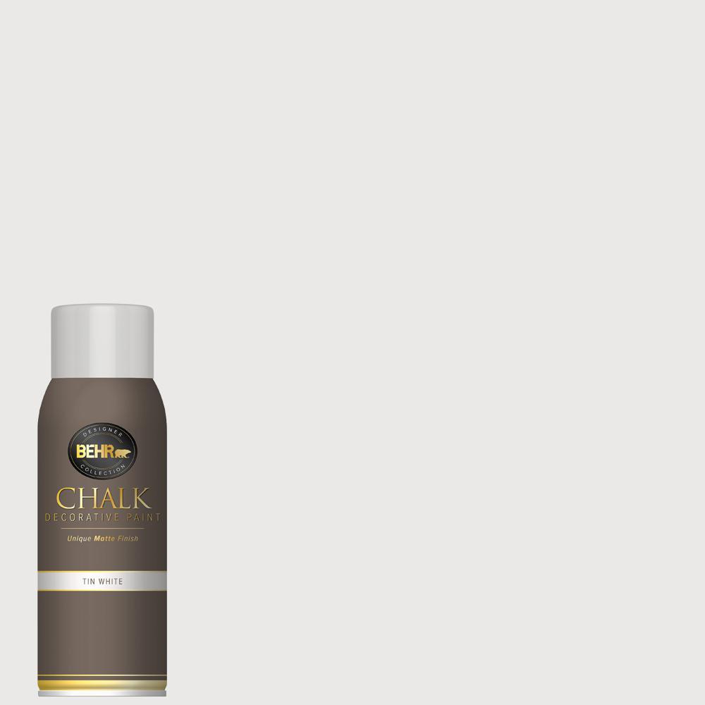 BEHR 12 oz. Tin White Interior Chalk Spray Paint Aerosol
