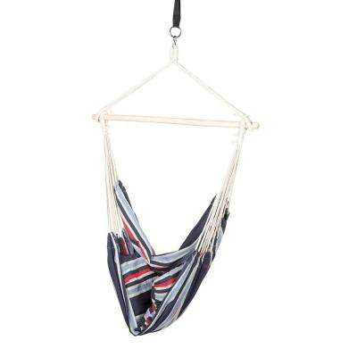 3.66 ft. Polyester Hammock Hanging Chair with 2 Cushions with Hammock Straps