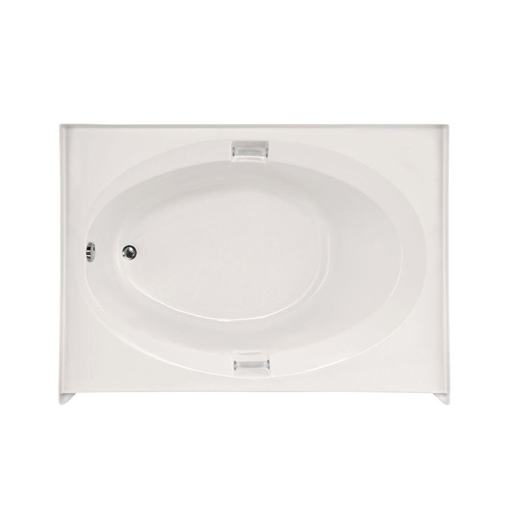 Sonoma 5 ft. Left Drain Air Bath Tub in White