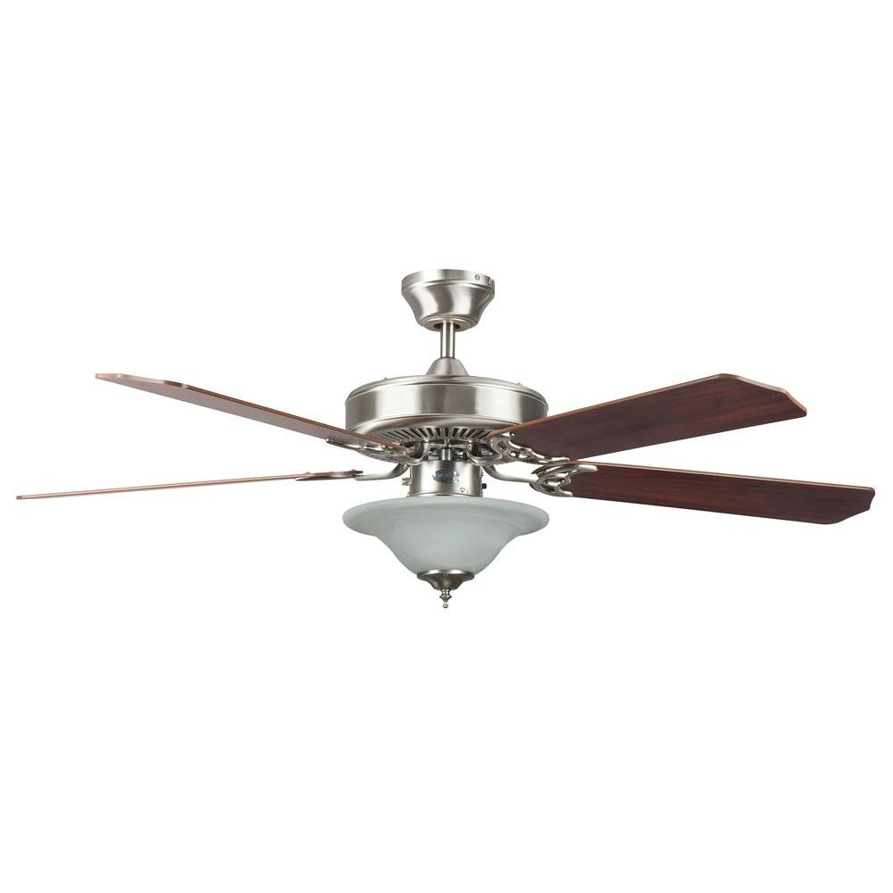 Radionic hi tech nevaeh 52 in stainless steel ceiling fan with stainless steel ceiling fan with light kit and 5 mozeypictures Choice Image
