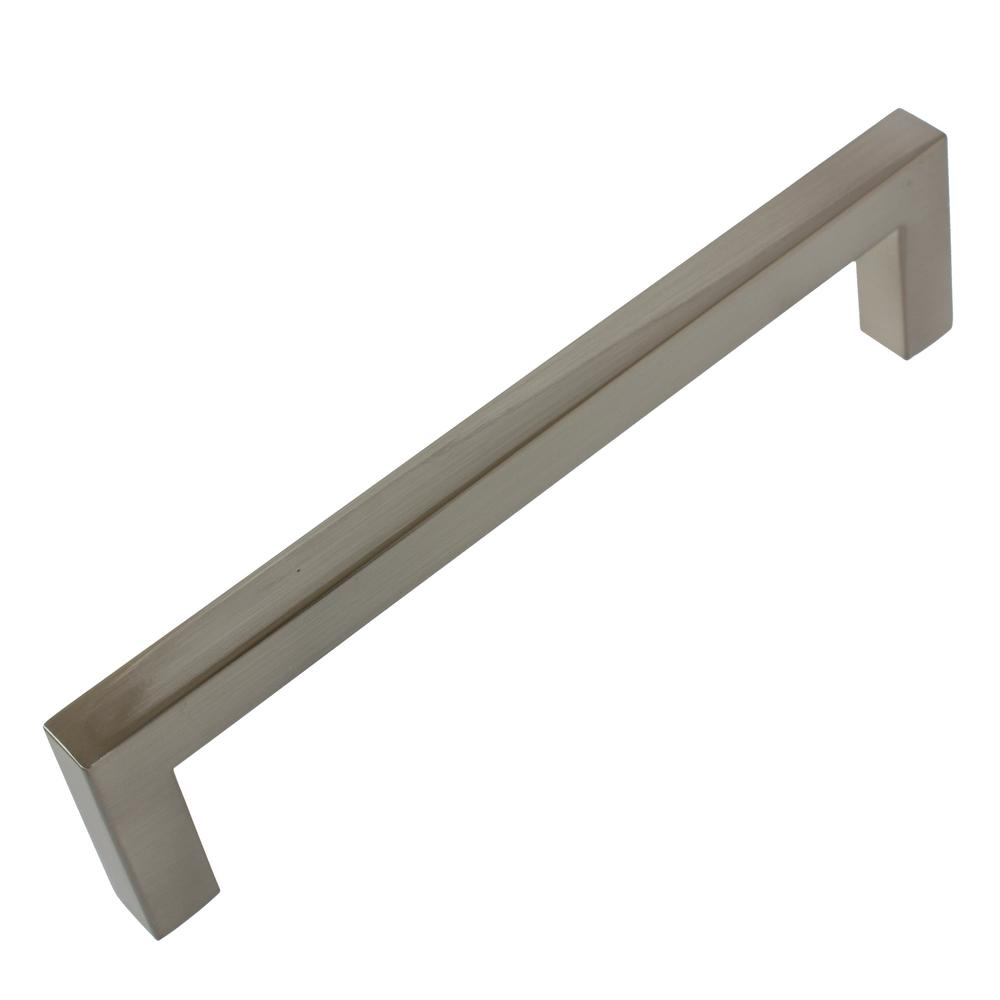 5 10 25 Cabinet Pull Square Drawer Handles Kitchen: GlideRite 5 In. Center-to-Center Satin Nickel Solid Square
