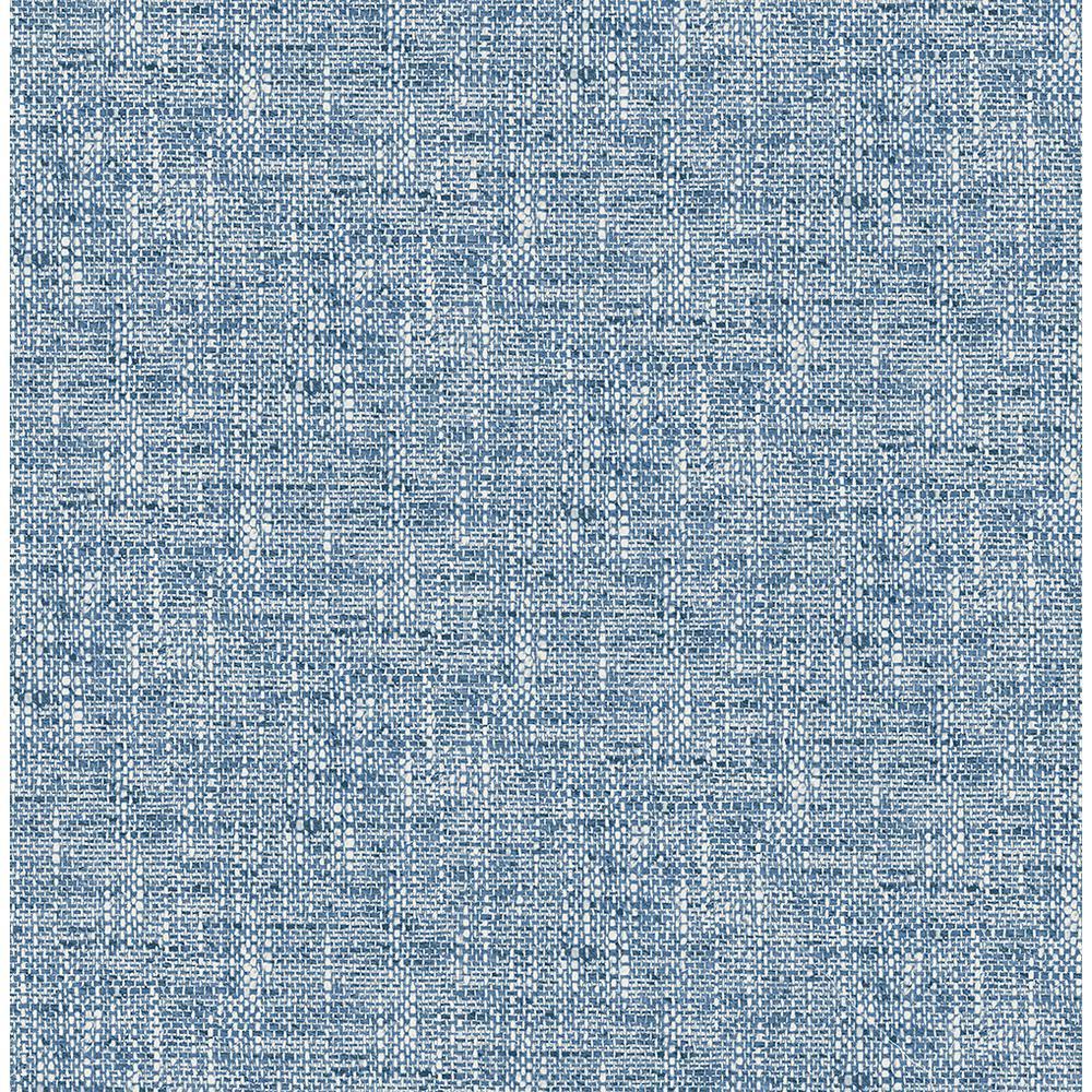 Navy Poplin Textured Blue Wallpaper Sample