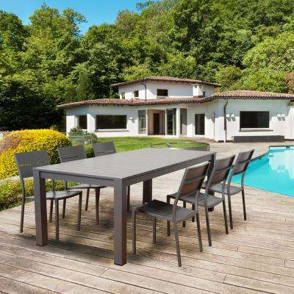 Bryant 7-Piece Metal Rectangular Outdoor Dining Set