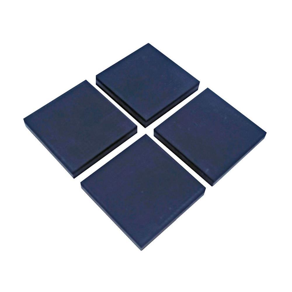 KE Shake Away 4 in. x 4 in. x 3/8 in. Black Vibration Control Utility Pads (4 per Pack)