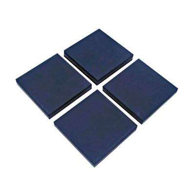 4 in. x 4 in. x 3/8 in. Black Vibration Control Utility Pads (4 per Pack)