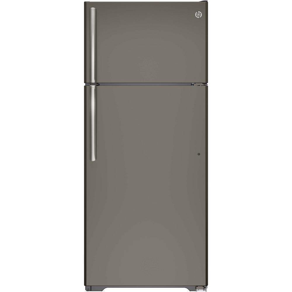 GE 17.5 cu. ft. Top Freezer Refrigerator in Slate, Fingerprint Resistant and ENERGY STAR