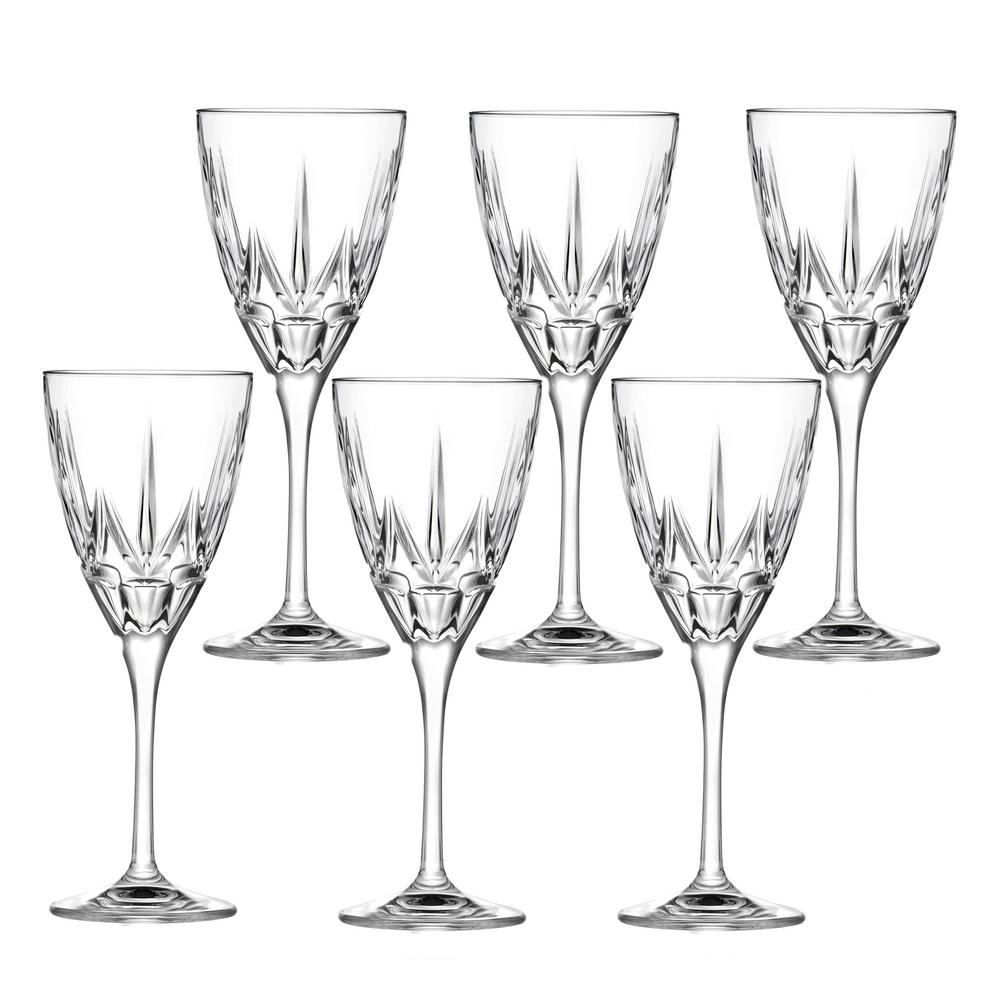 Chic White Wine Goblets By Lorren Home Trends (Set of 6