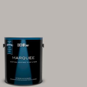 BEHR MARQUEE 1 gal  #580A-1 Fog Flat Exterior Paint and Primer in
