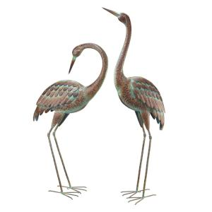 Regal Elegant Metal Garden Cranes 2 Set 51026 The Home