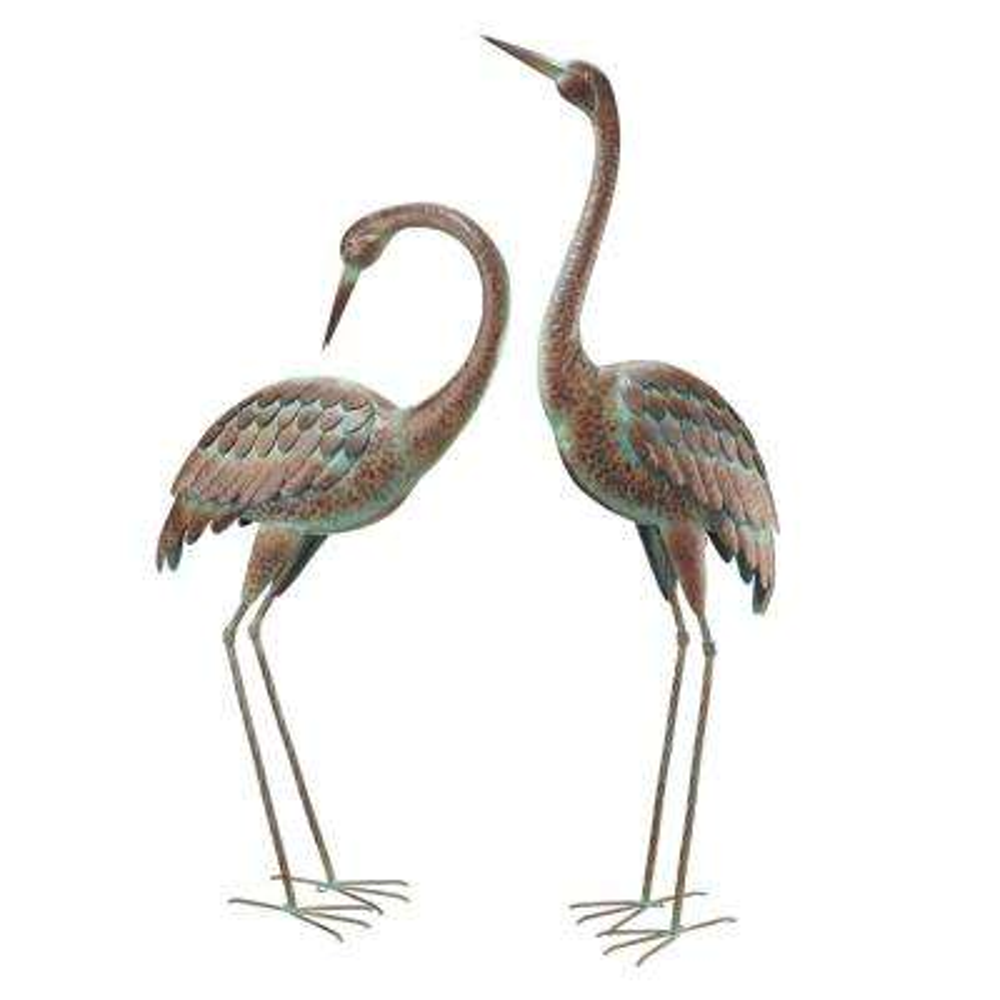 Elegant Metal Garden Cranes (2-Set)