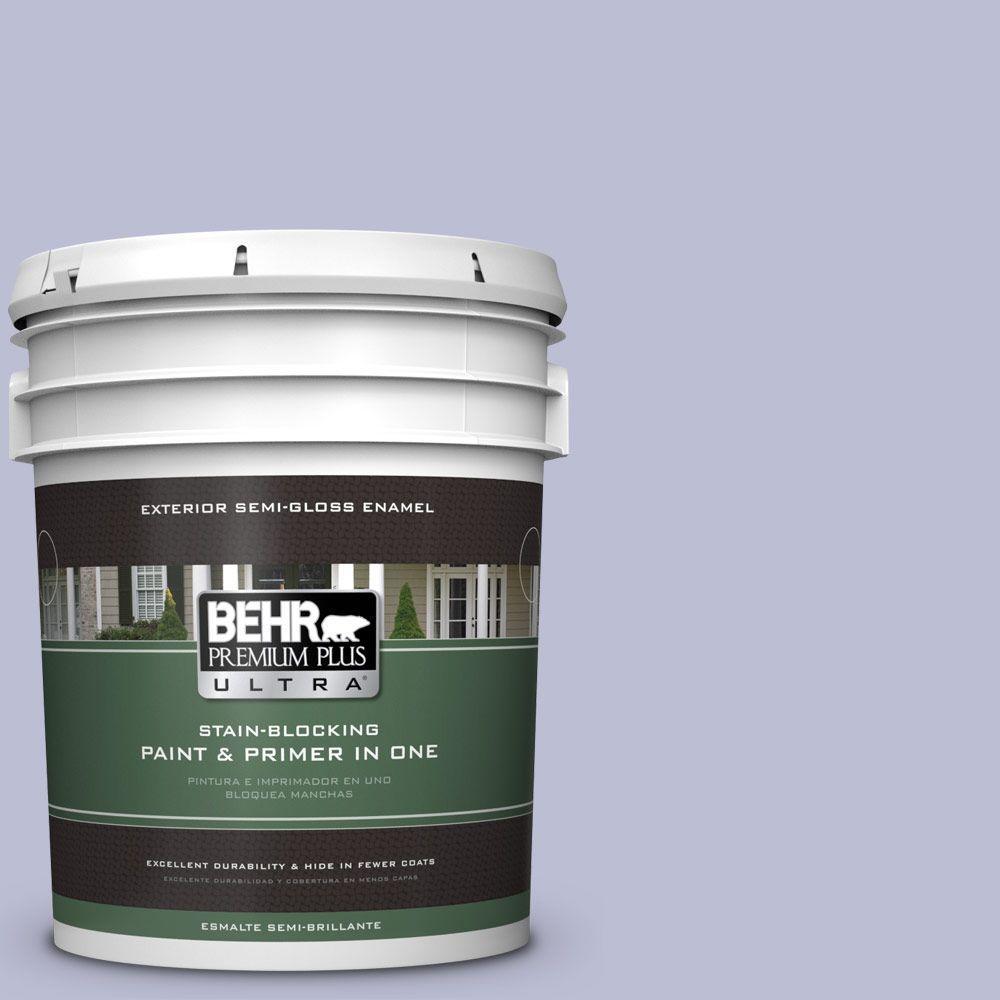 BEHR Premium Plus Ultra 5-gal. #PPU15-15 Sweet Juliet Semi-Gloss Enamel Exterior Paint