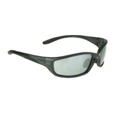Gray Slim Frame Safety Glasses with Ice Mirror Lens