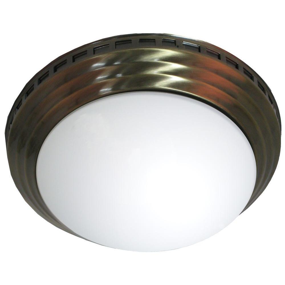 Decorative Antique Brass Dome 100 CFM Ceiling Bathroom Exhaust Fan