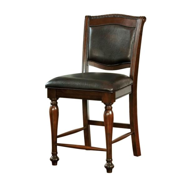 William S Home Furnishing Alpena Traditional Brown Cherry Style Counter Height Chair