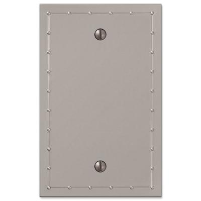 Rosa 1 Gang Blank Metal Wall Plate - Satin Nickel