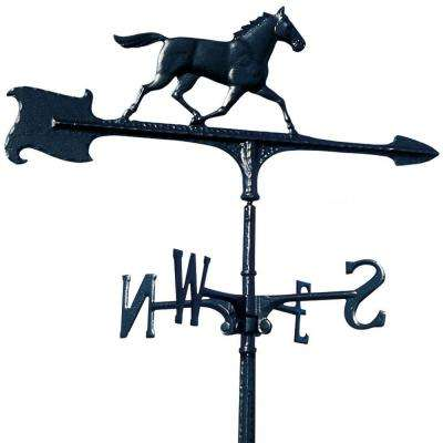 30 in. Black Horse Accent Weathervane