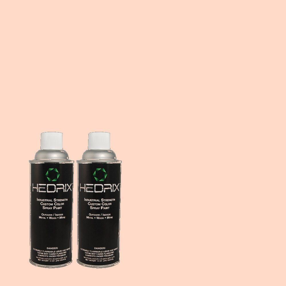 Hedrix 11 oz. Match of 1B21-2 Cherub Pink Gloss Custom Spray Paint (2-Pack)