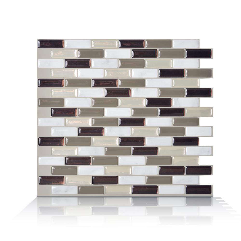 Smart tiles murano stone taupe 102 in w x 910 in h peel and this review is frommurano stone taupe 102 in w x 910 in h peel and stick self adhesive decorative mosaic wall tile backsplash 6 pack dailygadgetfo Image collections
