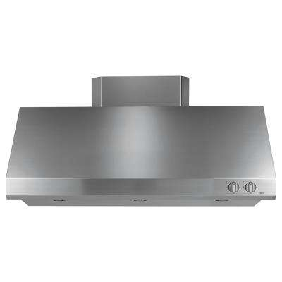 48 in. 940 CFM External Insert Range Hood with Light in Stainless Steel