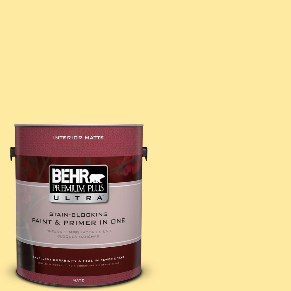BEHR Premium Plus Ultra 1 gal. #P300-4 Rise and Shine Matte Interior Paint