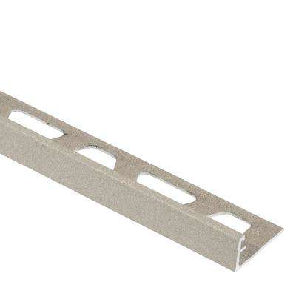 Jolly Cream Textured Color-Coated Aluminum 7/16 in. x 8 ft. 2-1/2 in. Metal Tile Edging Trim