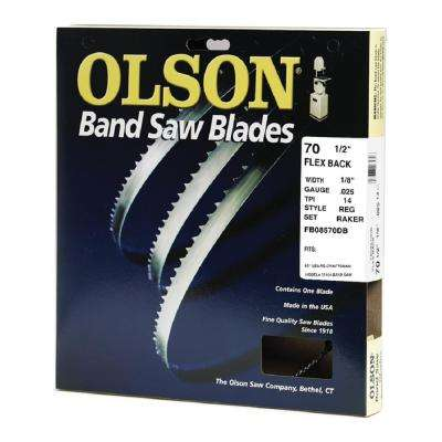 70-1/2 in. L x 1/8 in. with 14 TPI High Carbon Steel with Hardened Edges Band Saw Blade