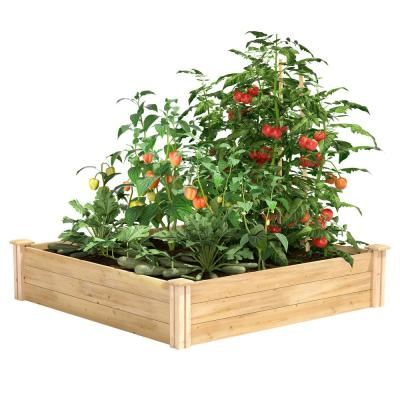 4 ft. x 4 ft. x 10.5 in. Original Cedar Raised Garden Bed
