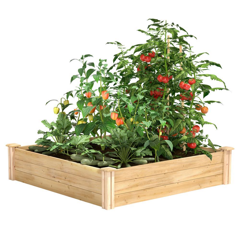 4 ft. x 4 ft. x 10.5 in. Original Cedar Raised Garden Bed