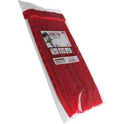 14 in. Cable Ties, Red (25-Pack)
