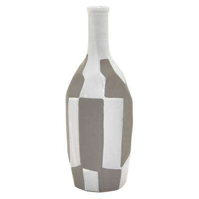11.5 in. Gray Ceramic Vase