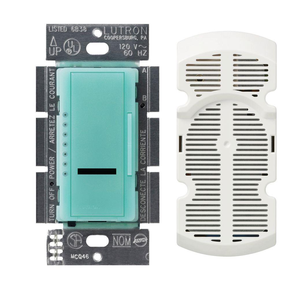 Lutron Maestro IR Multi-Location 7-Speed Digital Fan Control - Sea Glass