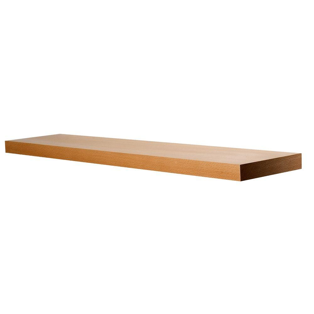 Wallscapes 10 in. x 1-3/4 in. Beech Wood Veneer Straight Floating Shelf Kit (Price Varies By Length)