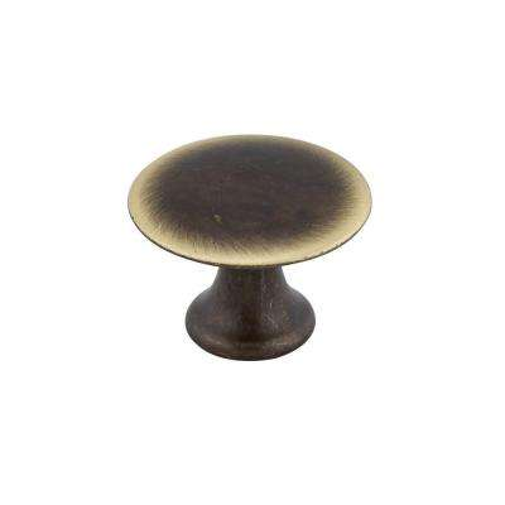 Traditional 1-3/16 in. (30 mm) Satin. Bronze Round Cabinet Knob
