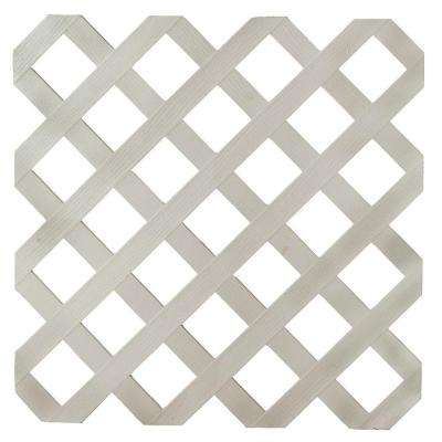 0.16 in. x 48 in. x 8 ft. Driftwood Gray Plastic Lattice