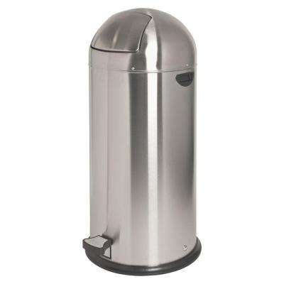13.5 Gal. Chrome Round Top Pedal Trash Can