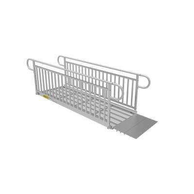 PATHWAY 3G 8 ft. Wheelchair Ramp Kit with Expanded Metal Surface and Vertical Picket Handrails