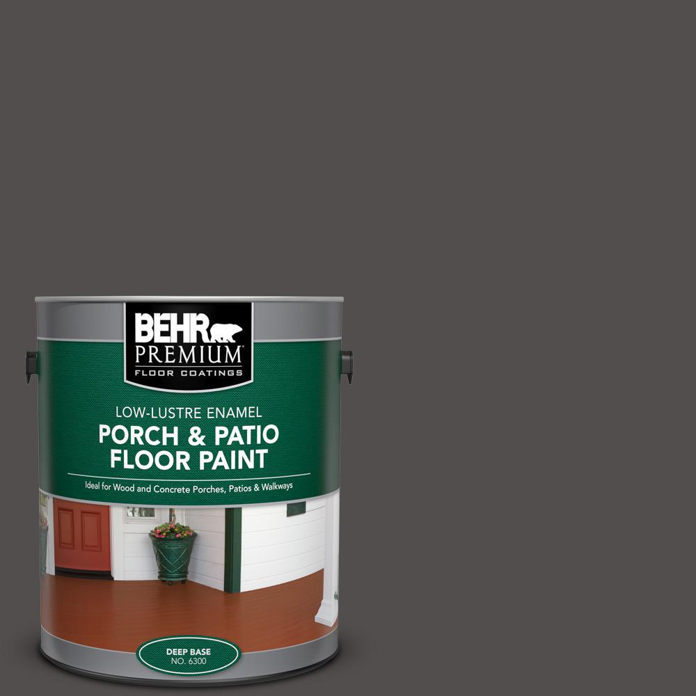 Behr Premium 1 Gal 790f 7 Dark Cavern Low Lustre Enamel Interior Exterior Porch And Patio Floor Paint 630001 The Home Depot