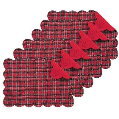 Red Plaid Placemat (Set of 6)