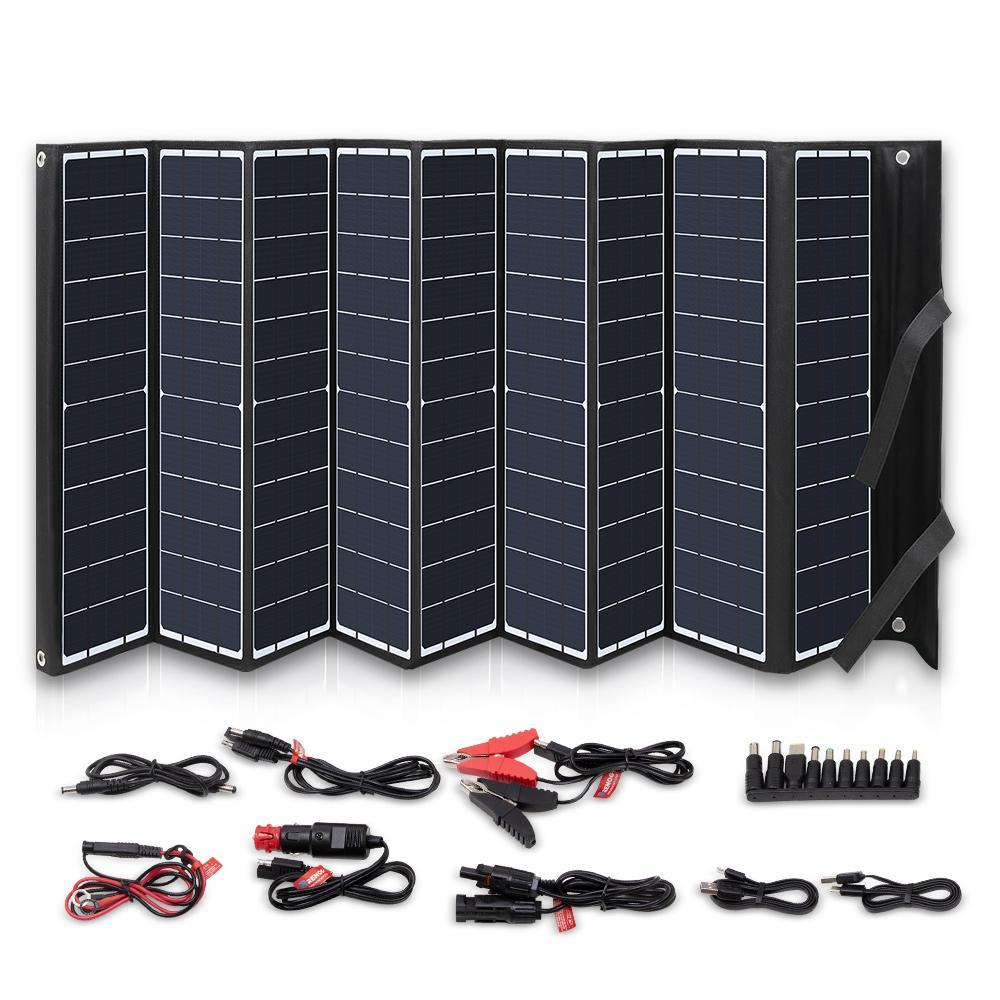 120-Watt Foldable Solar Panel Kit Charger