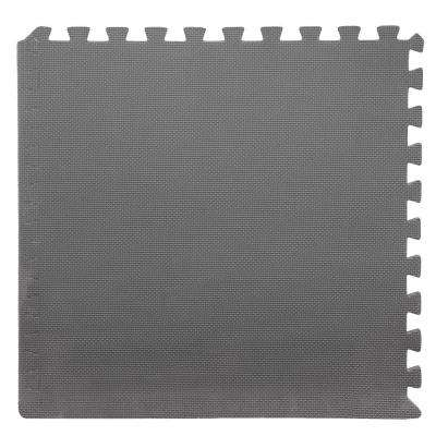 Grey 24 in. x 24 in. x 0.375 in. Interlocking EVA Foam Floor Tile (6-Pack)