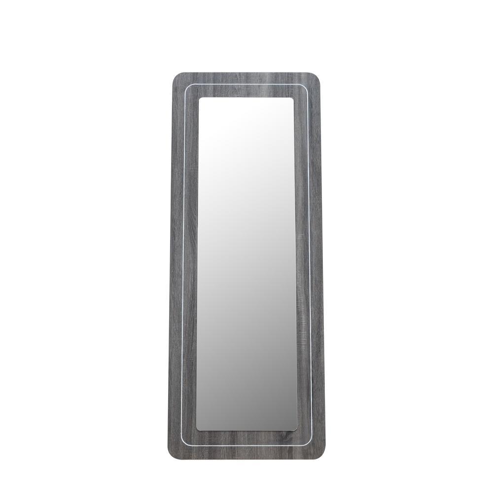 Chandelle 72 in.H x 28 in.W Wooden Framed Full Length Dark Gray Floor Mirror