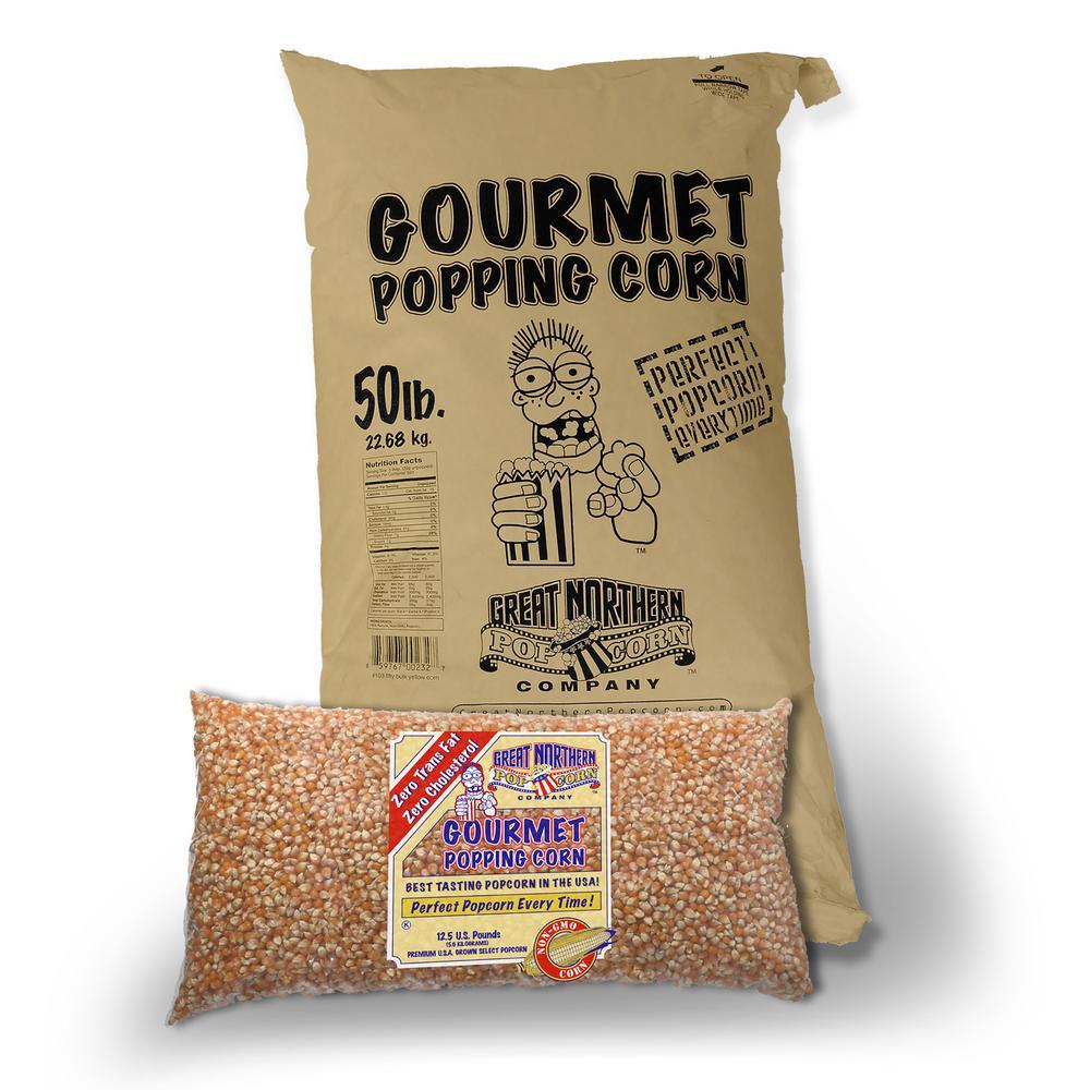 50 lb. Premium Grade Bulk Bag of Yellow Gourmet Popcorn